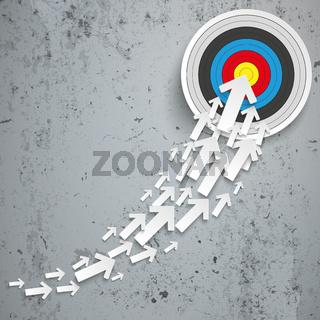 White Arrows Growth Chart Target Concrete