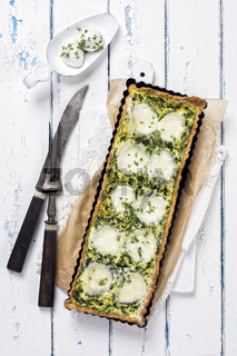 Mozzarella Spinach Tarte