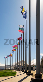 Sochi Olympic Park Flags