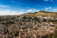 City of Granada at a summer day, Spain