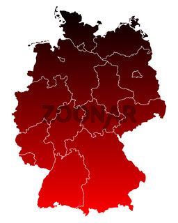 Karte von Deutschland - Map of Germany