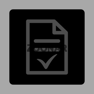 Valid Document Rounded Square Button