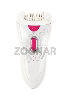 epilator isolated color strawberry red