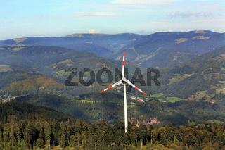 Windrad in Fröhnd im Schwarzwald