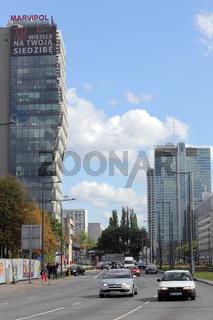 Prosta Tower in der Innenstadt von Warschau