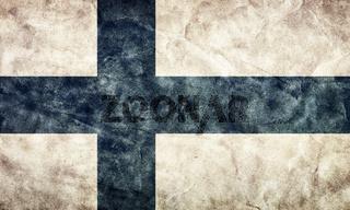 Finland grunge flag. Vintage