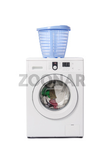 Washing machine isolated on white background