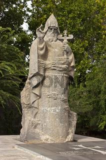 Sculpture Nerses V Ashtaraketsi in Ashtarak.