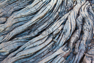 Black lava swirl in Hawaii
