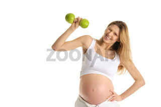 Pregnant woman involved in fitness