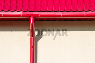 new rain water downspout on wall