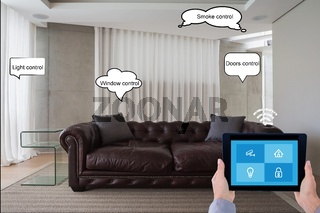 Composite image of home security