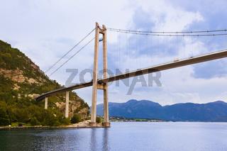 Bridge in fjord Lysefjord - Norway