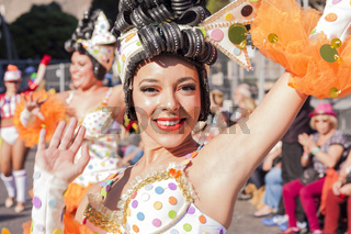 Carnival Tuesday parade, Mardi Gras in Tenerife.