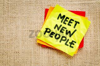 meet new people reminder note