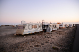 Caravan Park in the Desert