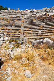 the old  temple and theatre in termessos