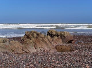 Strand am Atlantik bei Leghzira in Marokko