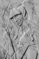 Bas-relief of a woman