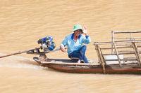 Vietnamese Friendly Fisherman Waving