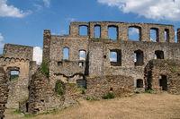 German castle ruin called Rheinfels