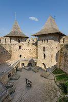 Inner space of medieval fortress in Soroca, Republic of Moldova