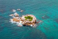 Felseninsel auf den Seychellen