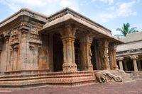 Pillared Mandapa, Subrahmanyam shrine, Brihadisvara Temple complex, Tanjore, Tamil Nadu