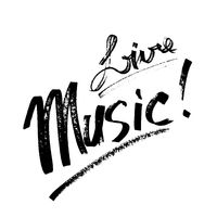 Live Music - lettering