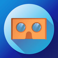 cardboard virtual reality glasses vector icon.