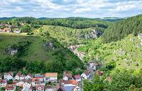 Pottenstein village in Franconian Switzerland