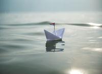Paper Boat in the Sun