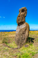 Moai in the Rapa Nui National Park on Easter Island