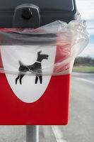 Dog poo waste litter bin