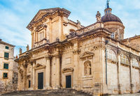 Church of St. Ignatius in the old town of Dubrovnik Croatia