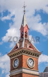 Small church clock tower