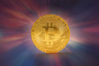 Bitcoin Internet Geld Konzept