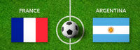 Football match France vs. Argentina