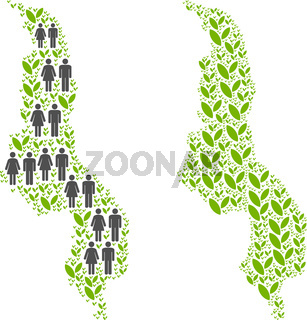 People and Environment Malawi Map