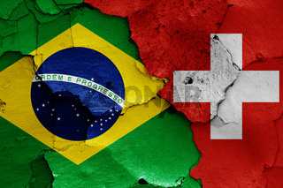 flags of Brazil and Switzerland