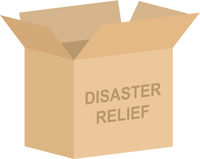 Disaster Relief Charity Box Vector