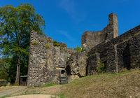 Castle ruin Windeck with blue sky