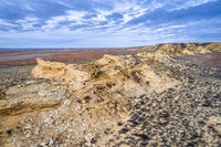 Monument Rocks in western Kansas prairie