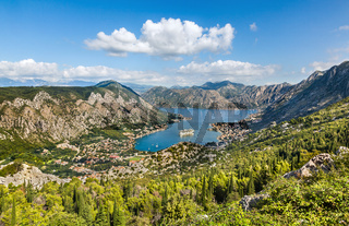 The view from the mountain on Kotor, Montenegro
