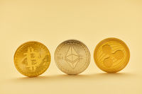 Bitcoin Ether Ripple Digitalwährung als Münzen