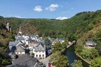 Aerial view village Esch-sur-Sure in Luxembourg