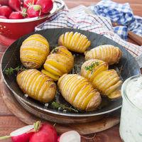 Rustikale Faecher Kartoffeln