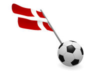 Soccer ball with the flag of Denmark