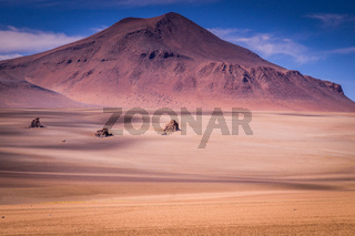 Volcanic Landscape in the Altiplano in Southern Bolivia near the border to Chile