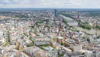 Frankfurt Germany aerial view